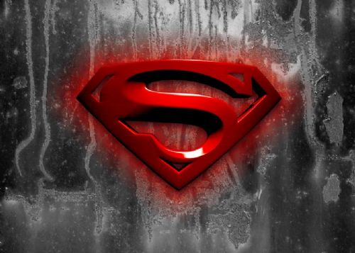 SUPERMAN - MAN OF STEEL LOGO canvas print - self adhesive poster - photo print